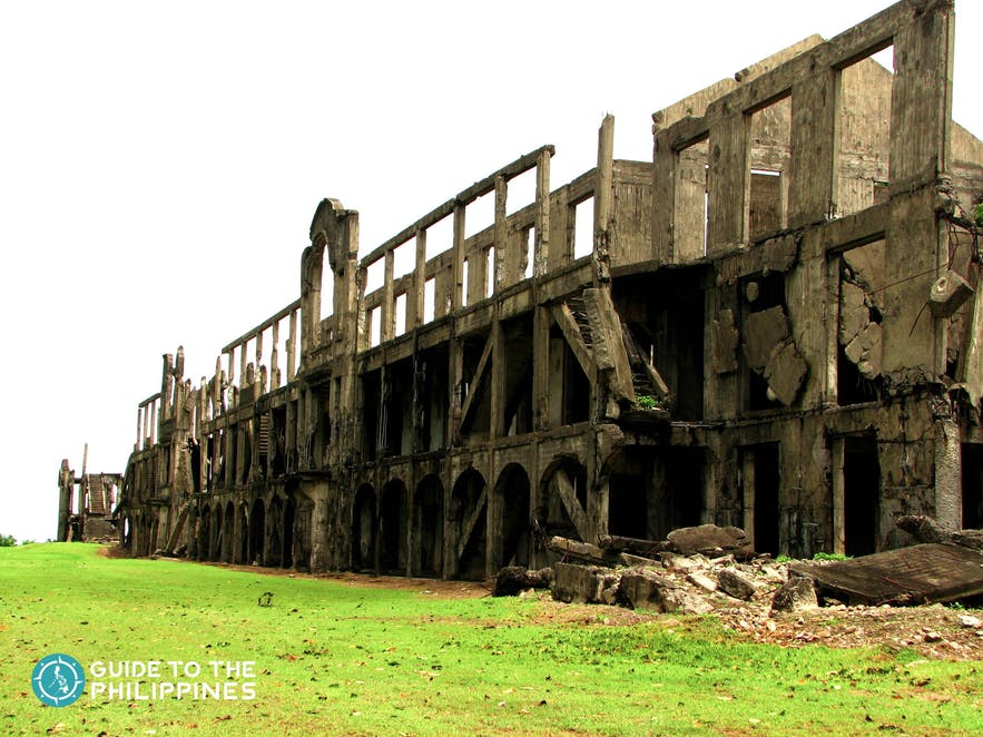 The historic Ruins of World War II at Corregidor Island near Bataan