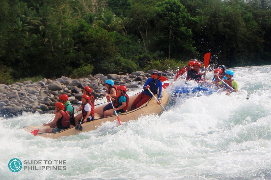 White river-rafting in Cagayan de Oro, Philippines
