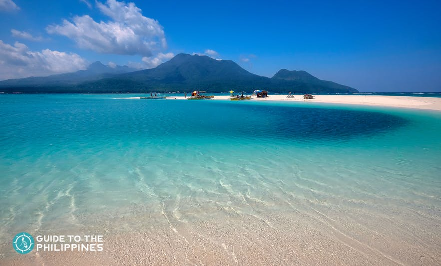 Famouse White Island in Camiguin Island, Philippines