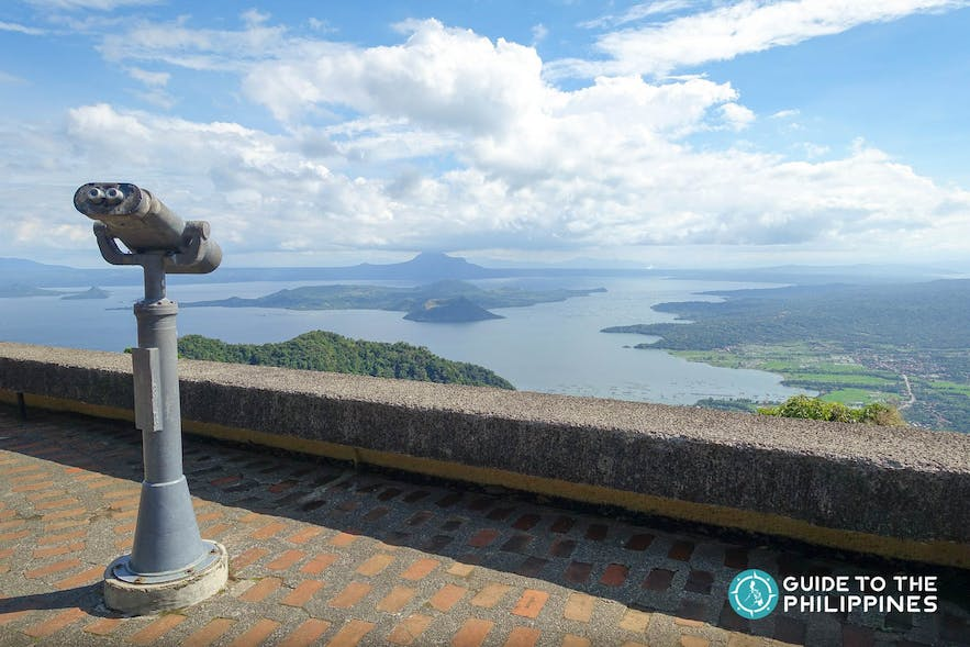 View of the Taal lake and Taal Volcano