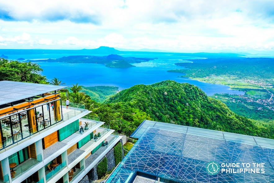 hotel overlooking the Taal Lake and Taal Volcano