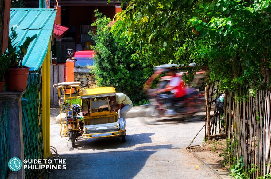 Get around El Nido Town Proper on a tricycle