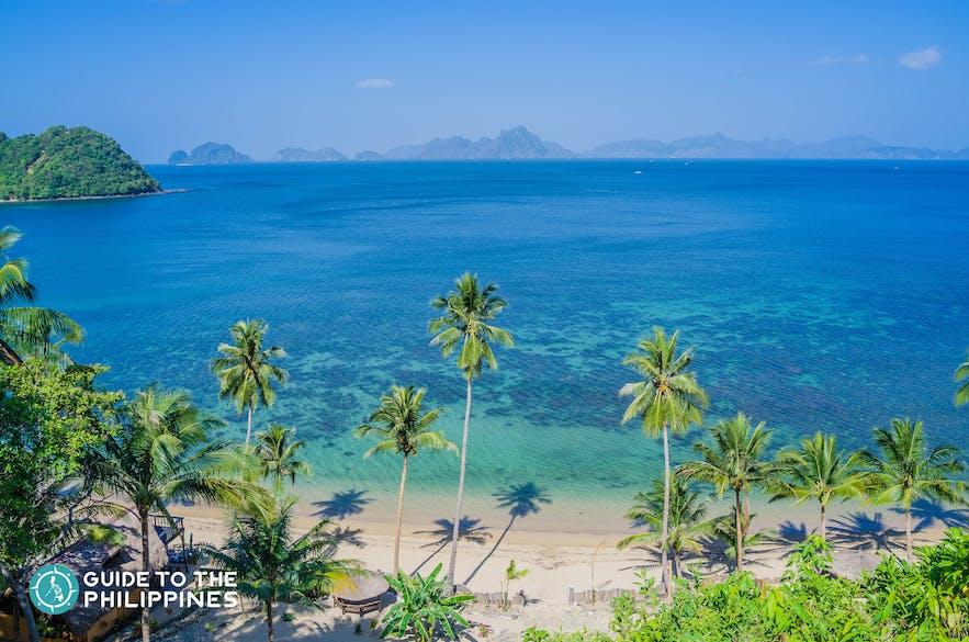 Beautiful stretch of beach in Corong-Corong, El Nido