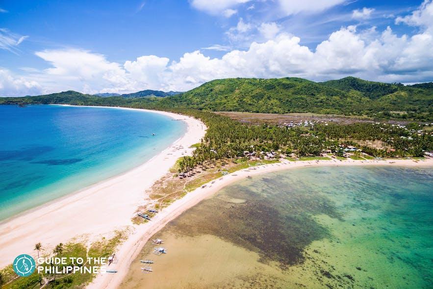 Twin Beaches of Nacpan and Calitang in El Nido, Palawan