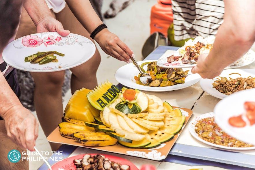 Food in El Nido, Palawan