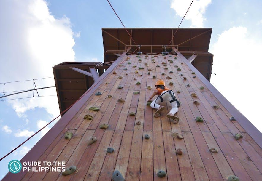 Wall Climbing in Sandbox in Porac, Pampanga