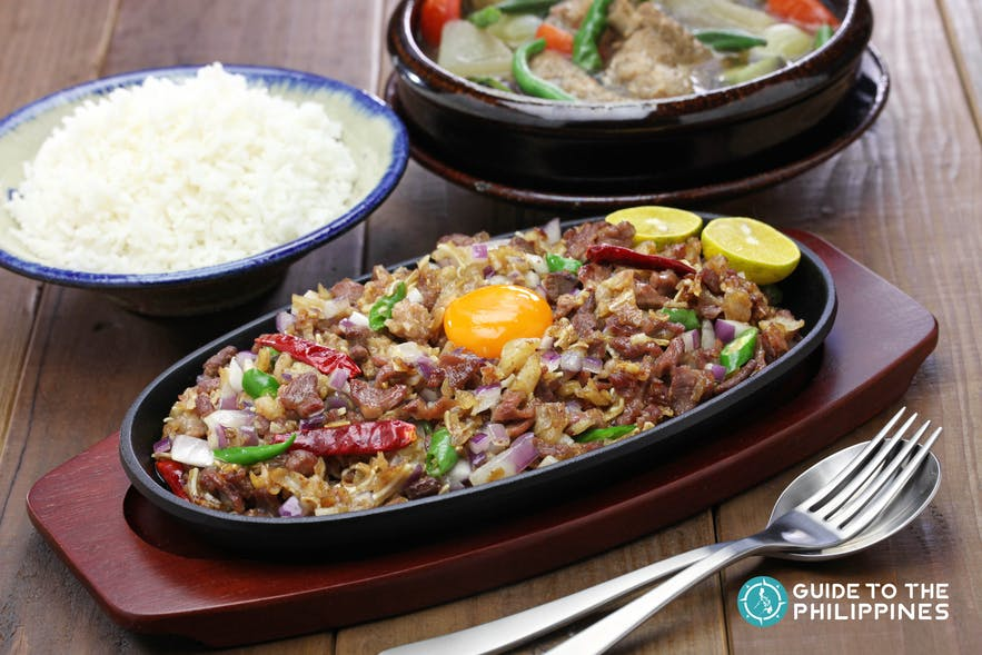 Sisig, a local dish which is popular in Pampanga