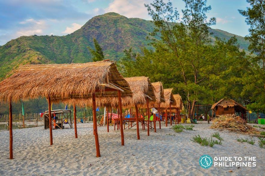 Camp area in Anawangin Cove