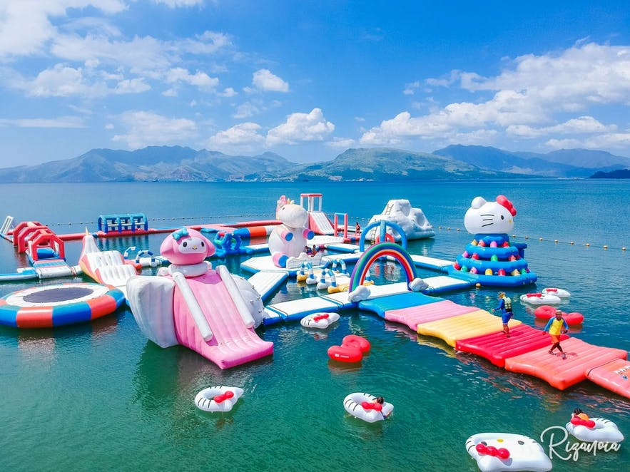 Inflatables area at Inflatable Island in Zambales
