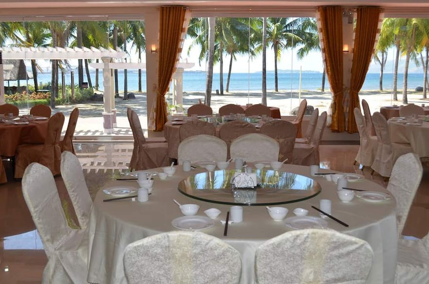 Overlooking view of the sea in New Feng Huang Seafood