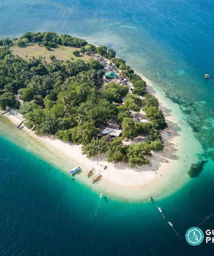 Aerial View of Potipot Island in Zambales