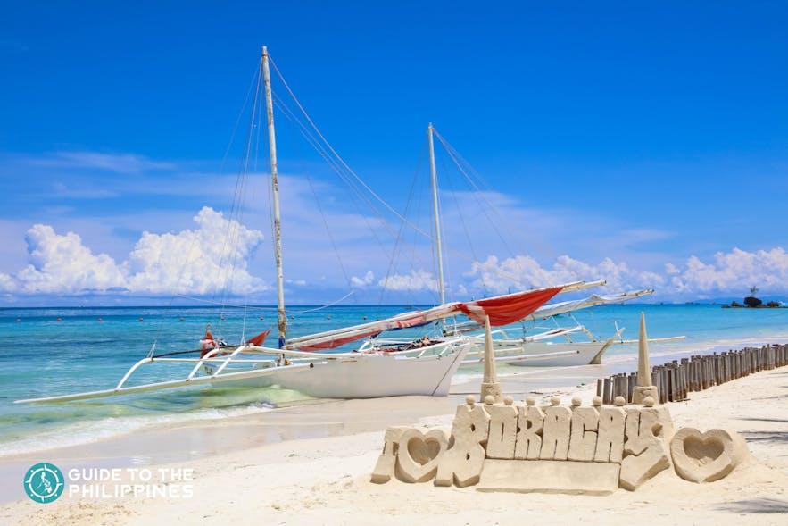 Famous Boracay sand castle
