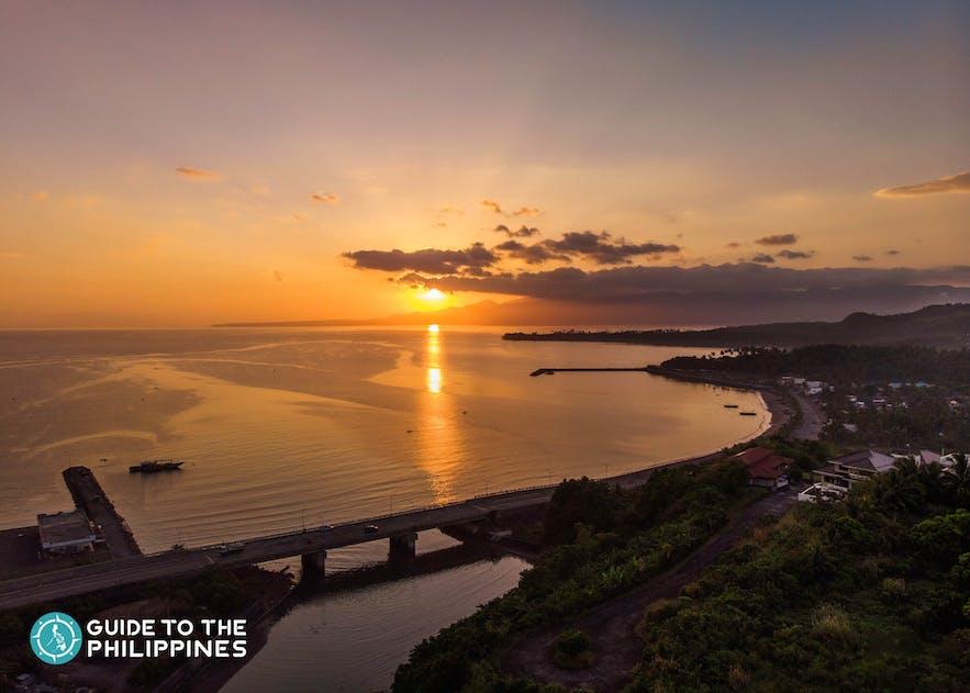 Sunset view alongside the Legazpi Boulevard in Albay
