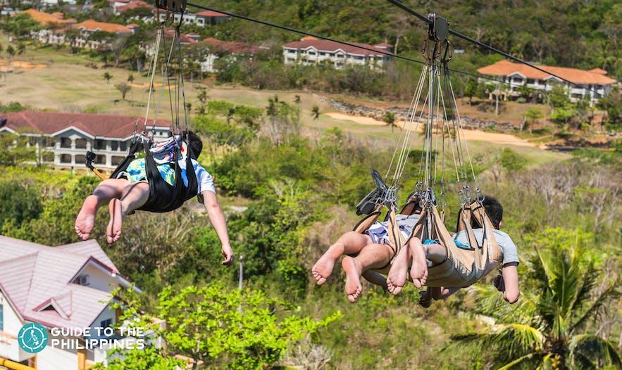 Zip line experience in Boracay
