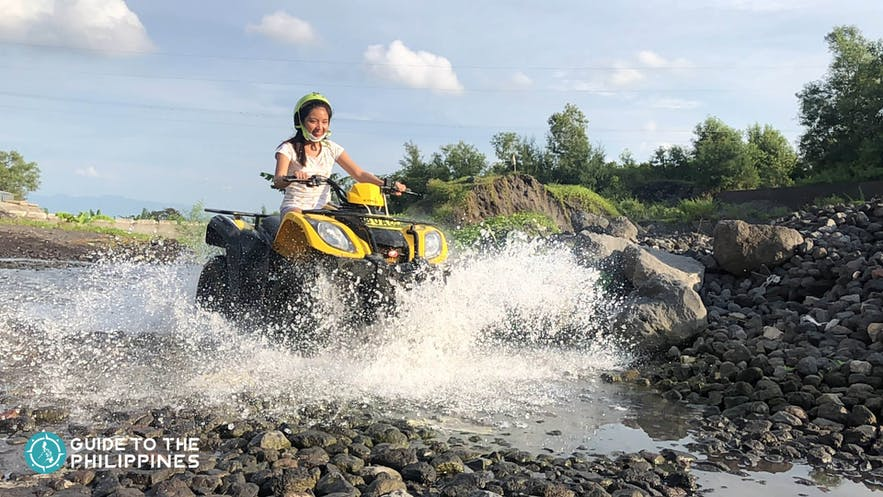 Ride in style with a 4x4 ATV as you visit Mt. Mayon