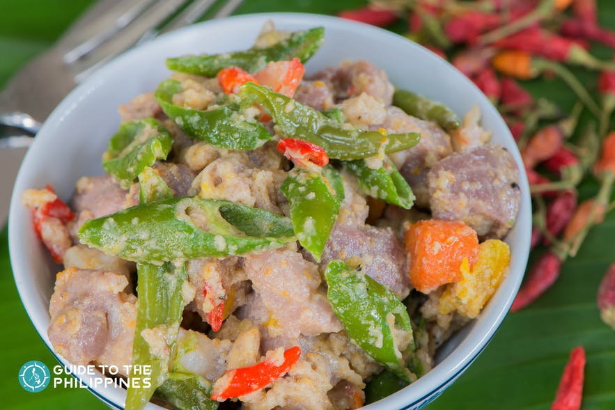 Bicol Express in Legazpi, Albay is a typical Bicolano cuisine with spices and coconut cream