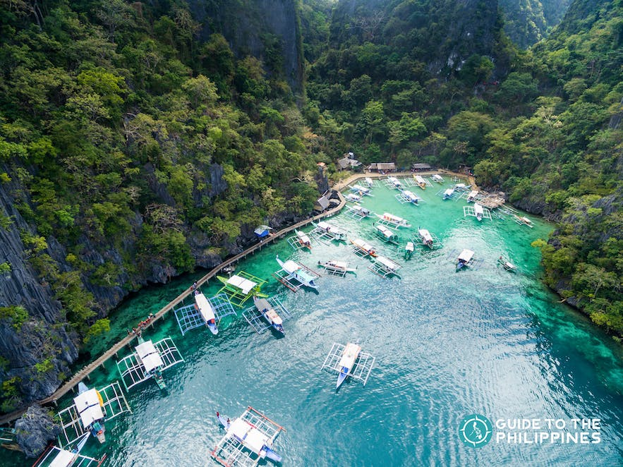 Coron, Palawan is accessible via flights or ferry