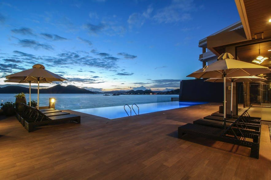 Infinity pool at Two Seasons Coron Bayside Hotel