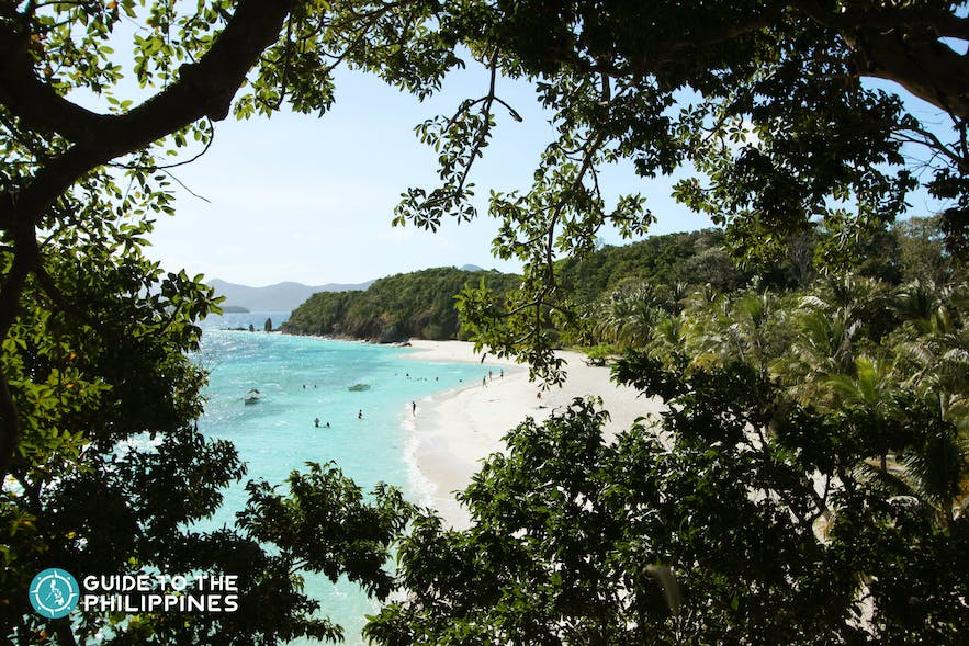The famous Malcapuya Beach at Culion in Coron, Palawan
