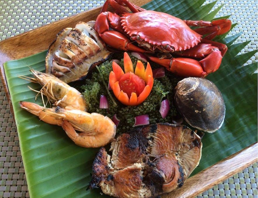 Kawayanan Grill's speciality Kawayanan Platter
