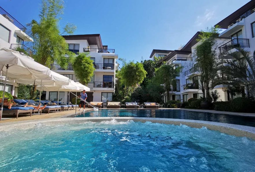 Pool area in Discovery Shores Boracay