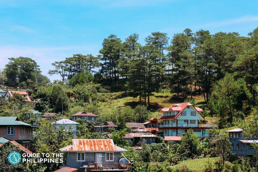 View of houses in Sagada
