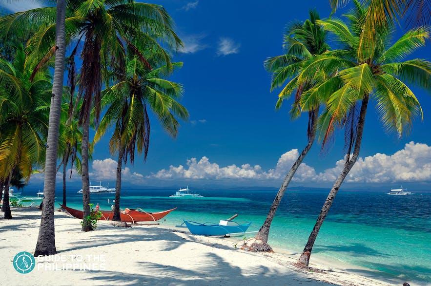 One of the white beaches of Malapascua, Cebu