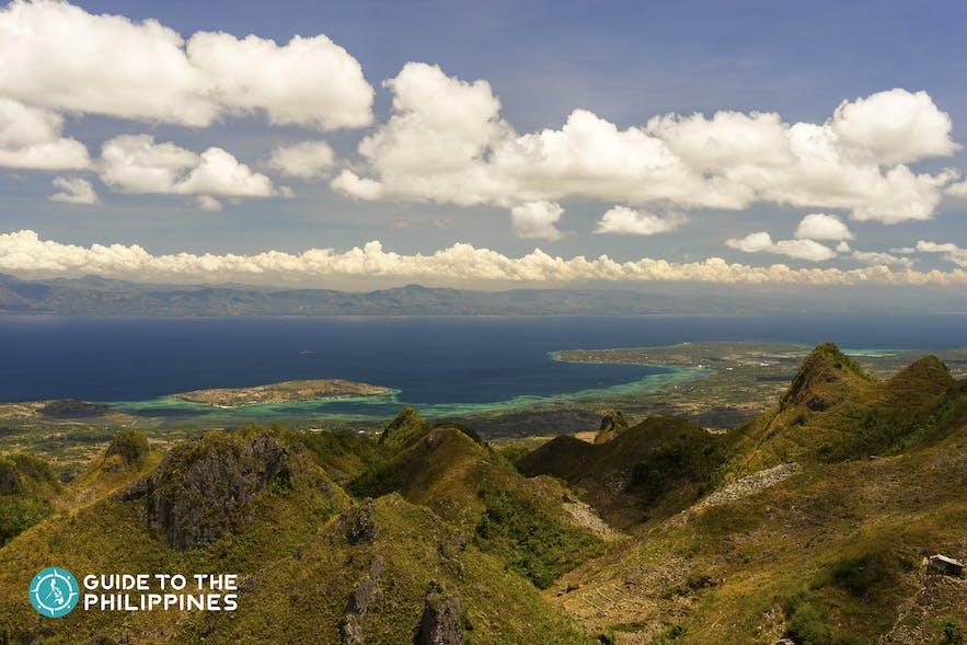 Mountain peaks in Dalaguete, Cebu