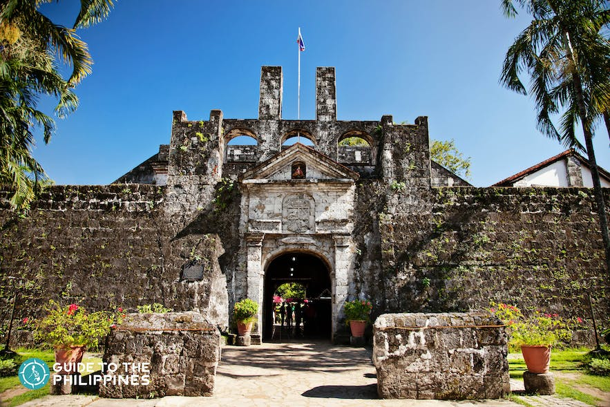 Fort San Pedro, the oldest triangular bastion fort in the Philippines