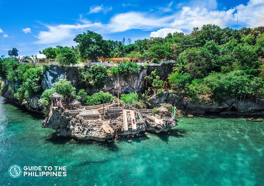 Camotes Island in northern Cebu offers a range of outdoor activities for thrill-seekers like spelunking