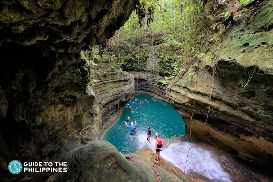 Travellers in Canyoneering at Kawasan Falls