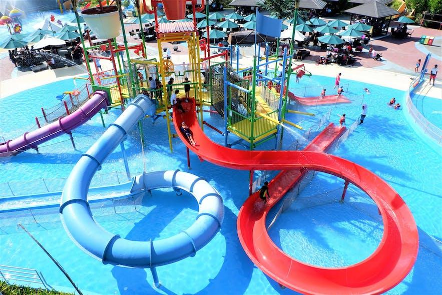 Fun water slides at Aqua Planet in Pampanga
