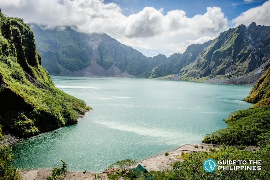 Mt. Pinatubo in nearby Tarlac province