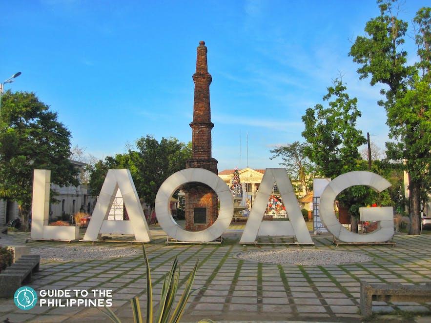 Laoag signage in plaza
