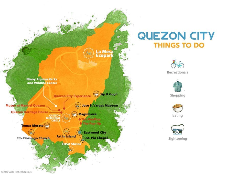 Guide to the Philippines' map of things to do in Quezon City