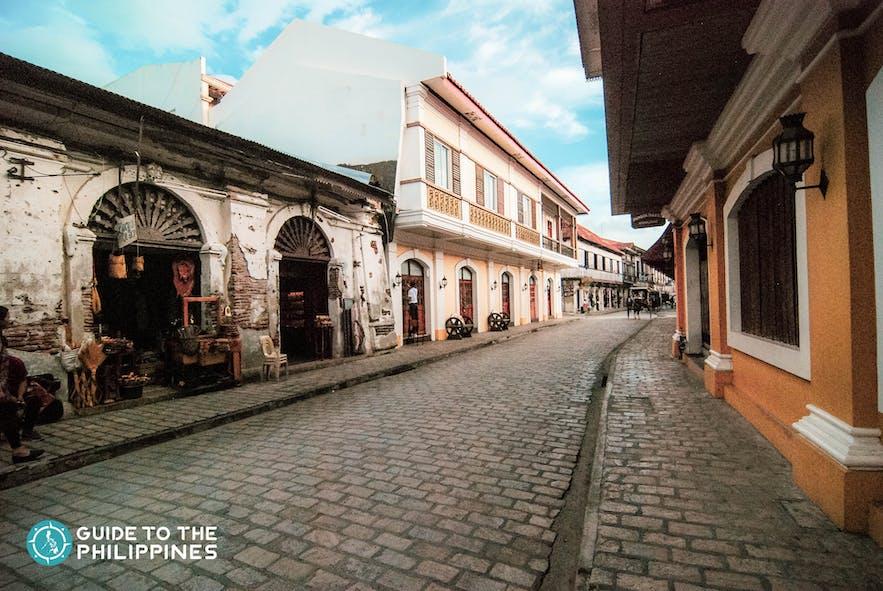 Calle Crisolog, Vigan's most famous tourist spot, comprises of ancestral houses and cobblestones