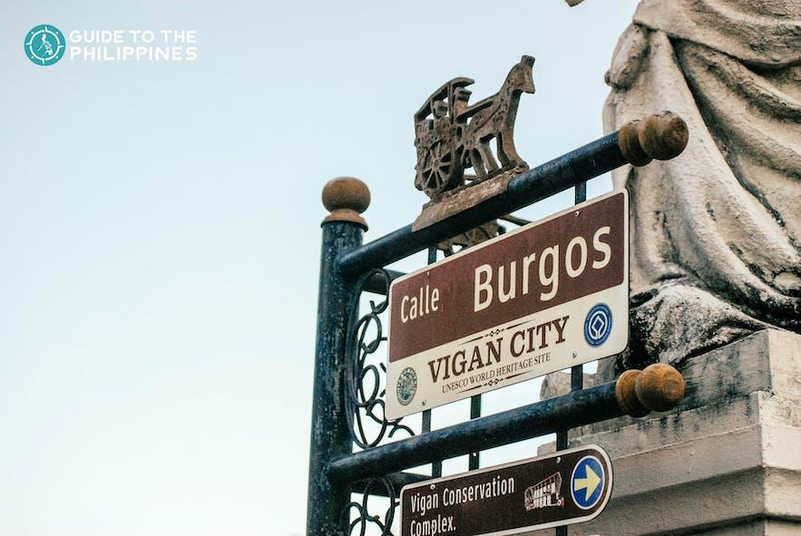 Calle Burgos street sign