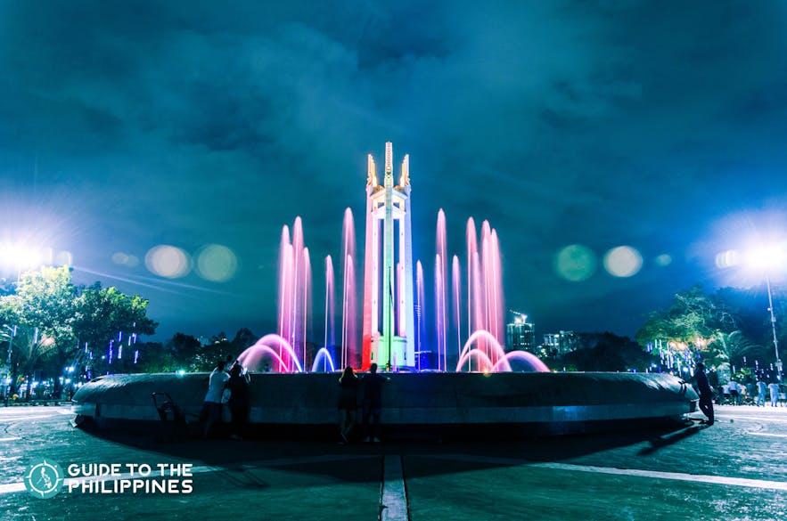 Fountain at Quezon City Memorial Circle