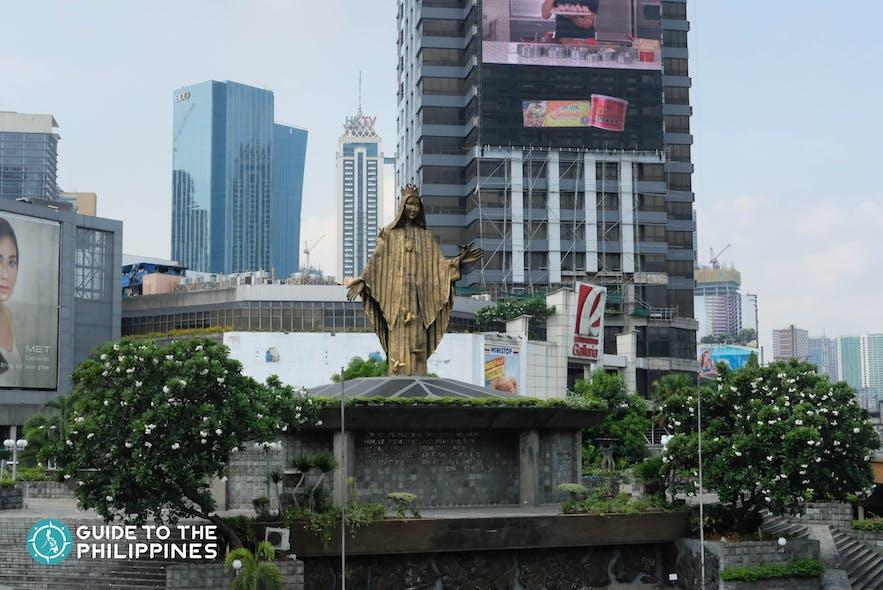 EDSA Revolution Monument beside Robinsons Galleria