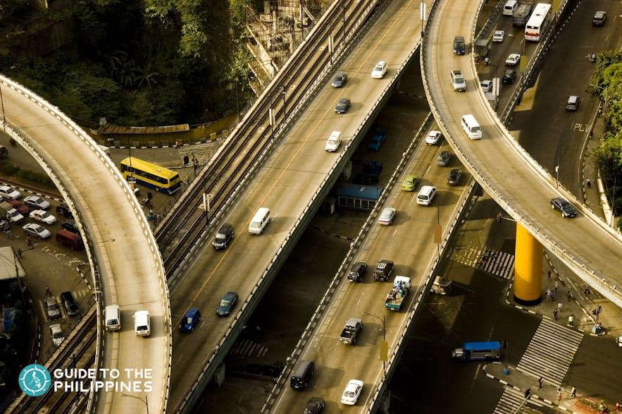 EDSA Highway going to Quezon City