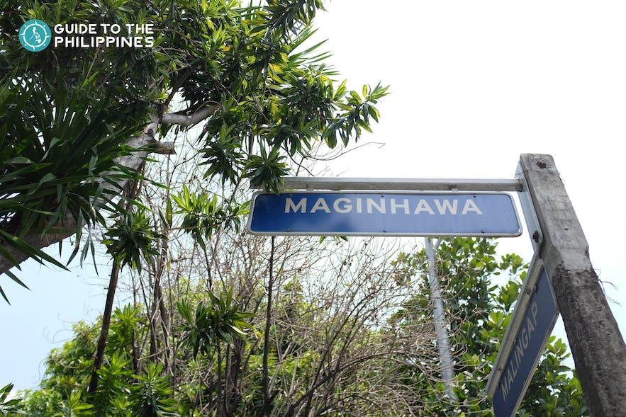 Maginhawa Street Sign in Quezon City