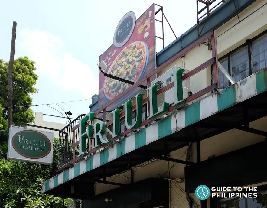 Friuli Trattoria, one of the most famous pizza place in Quezon city