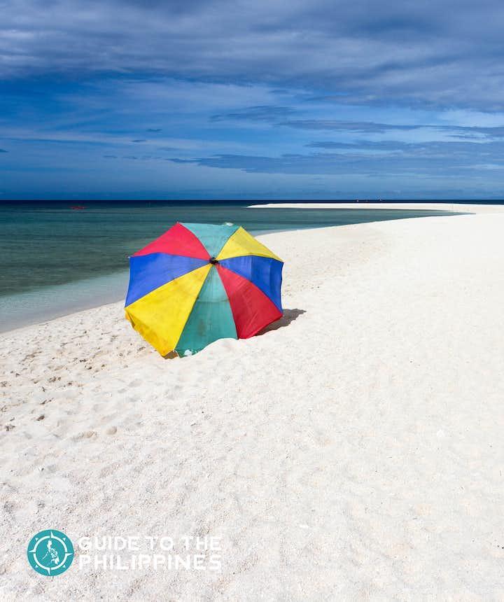 Colorful umbrella in Camiguin White Island