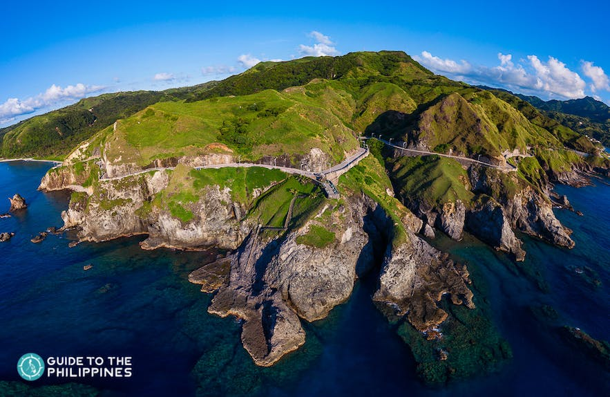 Aerial view of the Chawa View Deck in Batanes