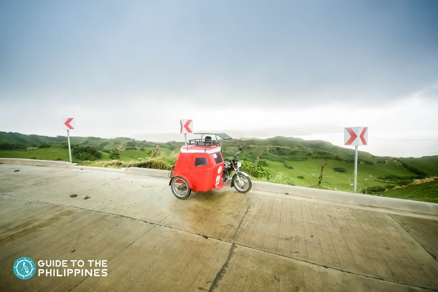 A tricycle can take a group of 3 to 4 people around Batanes