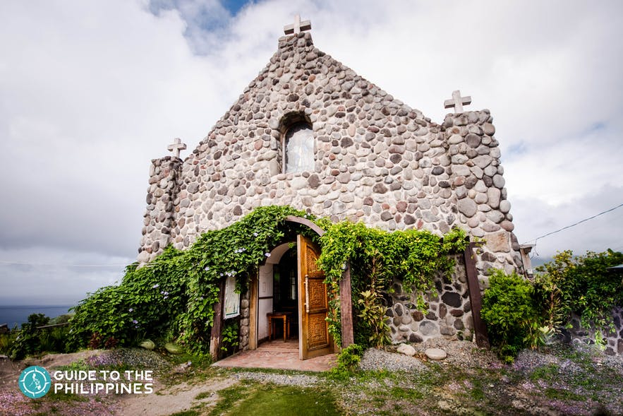 Entrance of the Tukon Chapel, also known as Mt. Carmel Church in Batanes, Philippines