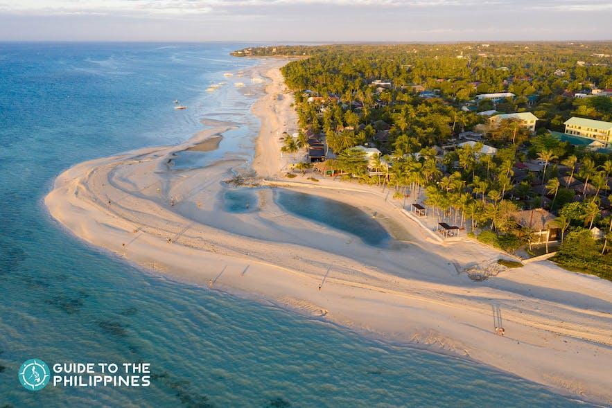 Powdery white sand of Bantayan Island, Cebu, Philippines