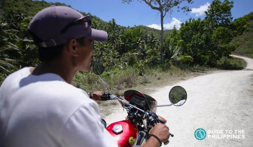 Man riding a motorcycle in Cebu