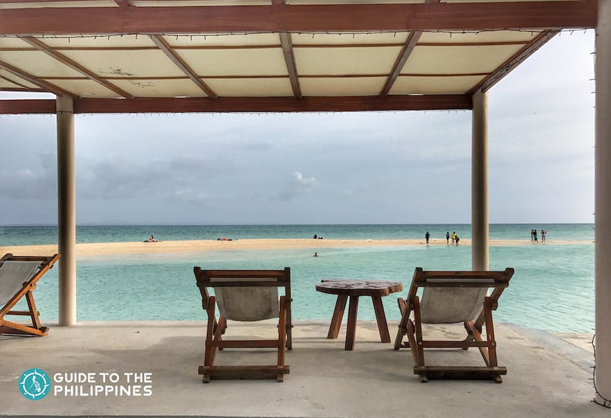 Overlooking the view of beach in Bantayan Island