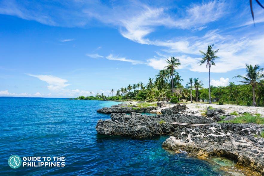 Virgin beach in Bantayan Island, Cebu